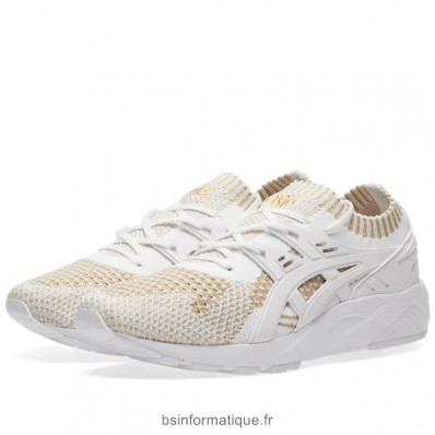 asics blanche et or