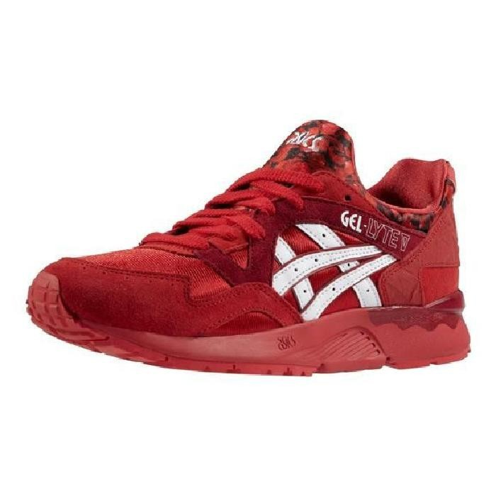 best sneakers ba6cb 356d8 asics gel lyte v rouge homme